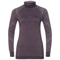 Naadloze onderkleding top met Gezichtsmasker l/m Natural + Kinship Warm, vintage violet melange, large