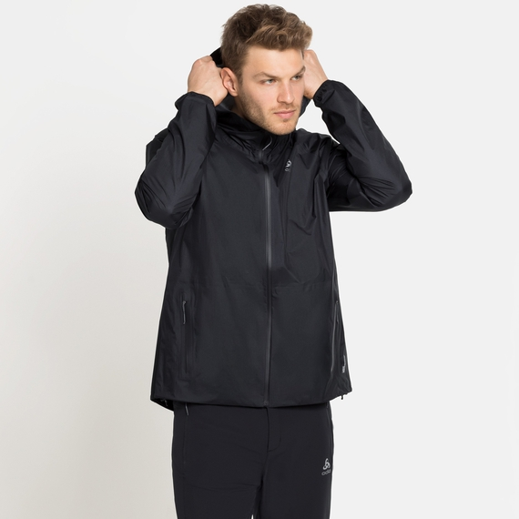 Men's FLI 2.5L WATERPROOF Hardshell Jacket, black, large