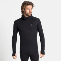 Men's ACTIVE WARM ECO Base Layer Top with Facemask, black, large