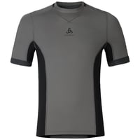 Ceramicool pro baselayer shirt men, odlo steel grey - black, large