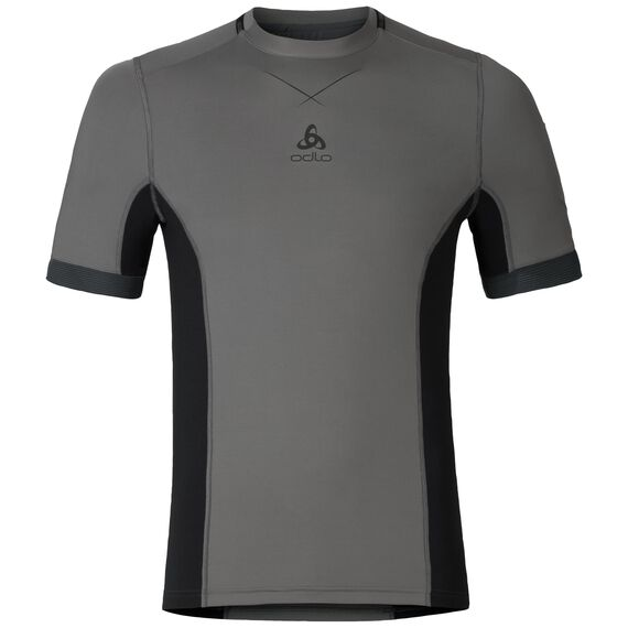 Ceramicool pro baselayer shirt men, odlo steel grey - black, large