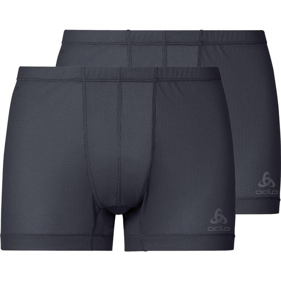 Boxershort ACTIVE CUBIC LIGHT Verpakking met 2 stuks, ebony grey - black, large