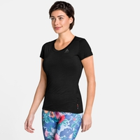 Women's NATURAL + LIGHT Short-Sleeve Base Layer Top, black, large