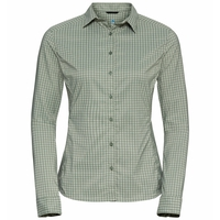 KUMANO CHECK-blouse voor dames, matte green - sea foam, large