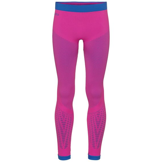 EVOLUTION WARM baselayer pants, pink glo - lapis blue, large