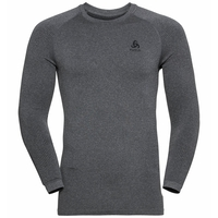 Men's PERFORMANCE WARM ECO Long-Sleeve Baselayer Top, grey melange - black, large