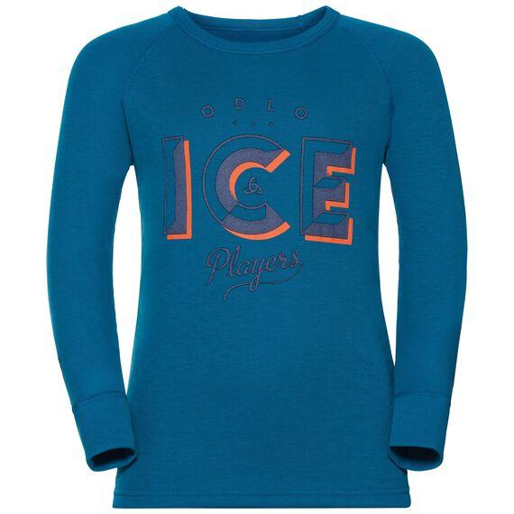 SUW Top Crew neck l/s ACTIVE ORIGINALS Warm TREND Kids, mykonos blue, large