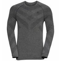 Men's KINSHIP LIGHT Long-Sleeved Base Layer Top, grey melange, large