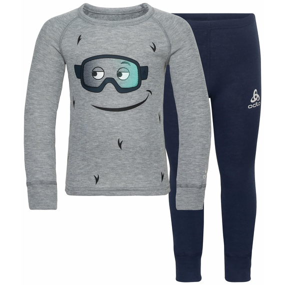 ACTIVE WARM ECO TREND KIDS pour enfant, diving navy - grey melange - graphic FW20, large