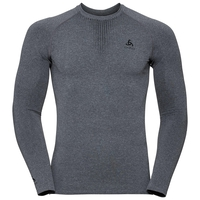 Men's PERFORMANCE WARM Long-Sleeve Base Layer Top, grey melange - black, large