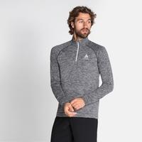 Men's MILLENNIUM YAKWARM Half-Zip Long-Sleeve Midlayer Top, grey melange, large