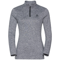Women's STEEZE 1/2 Zip Midlayer, grey melange, large
