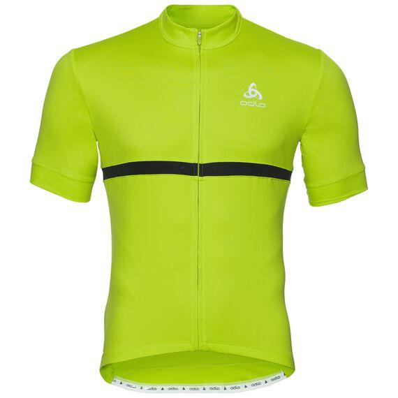 FUJIN cycling jersey men, acid lime, large