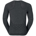 SUW Top Crew neck l/s Natural + X-Warm, black melange, large