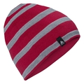 MID GAGE REVERSIBLE-muts voor kinderen, cerise - grey melange - stripes, large