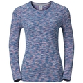 T-shirt l/s SILLIAN, spectrum blue space dye, large