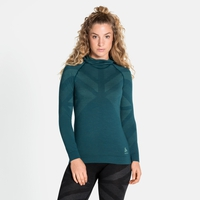 Women's NATURAL + KINSHIP WARM Baselayer with Facemask, submerged melange, large