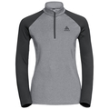 Midlayer 1/2 zip PAZOLA, grey melange - odlo graphite grey, large