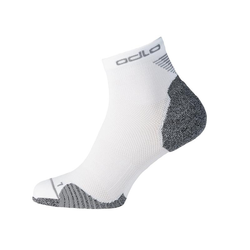 CERAMICOOL Running Quarter Socks, white, large