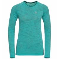 Women's BLACKCOMB CERAMICOOL Long-Sleeve Running T-Shirt, jaded - space dye, large