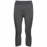 Women's PERFORMANCE WARM ECO Baselayer 3/4 Pants, grey melange - black, large