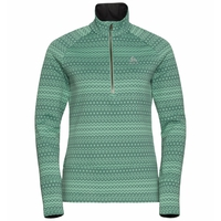 Women's SILVRETTA CERAMIWARM 1/2 Zip Midlayer, malachite green - graphic FW20, large