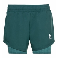 Women's RUN EASY 5 INCH 2-in-1 Shorts, balsam - jaded, large