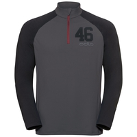 Herren 1/2 zip TAHOE II Midlayer, odlo graphite grey - black, large