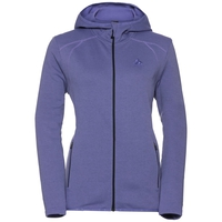 Hoody midlayer full zip MONTAFON, dusted peri melange, large