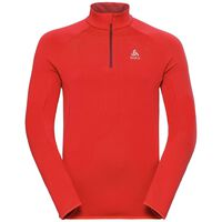 Midlayer 1/2 zip CARVE Warm, fiery red, large