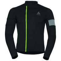 Stand-up collar l/s full zip LOMBARDIA, black - safety yellow, large