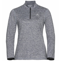 Women's ALAGNA 1/2 Zip Midlayer, dark grey melange, large