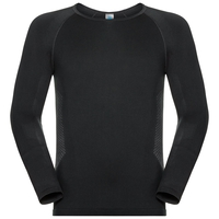 Men's PERFORMANCE ESSENTIALS WARM Long-Sleeve Base Layer Top, black - odlo graphite grey, large