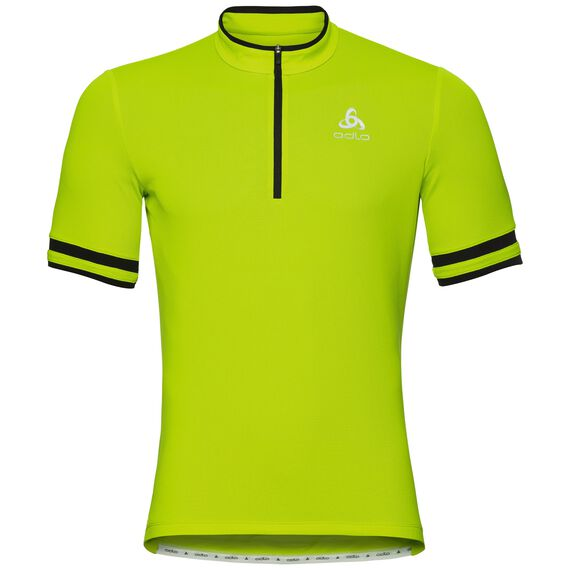 BREEZE cycling jersey men, acid lime, large