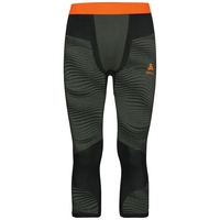 Men's BLACKCOMB 3/4 Base Layer Pants, climbing ivy - black - orange clown fish, large