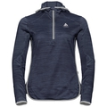 Sweat à capuche couche intermédiaire 1/2 zip STEAM, diving navy melange, large