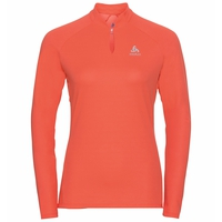 Women's F-DRY Long-Sleeve Top, hot coral, large