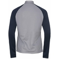 PLANCHES Midlayer mit 1/2 Reißverschluss, diving navy - grey melange, large