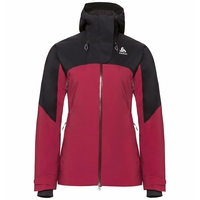 Jacke isoliert SLY X, rumba red - black, large
