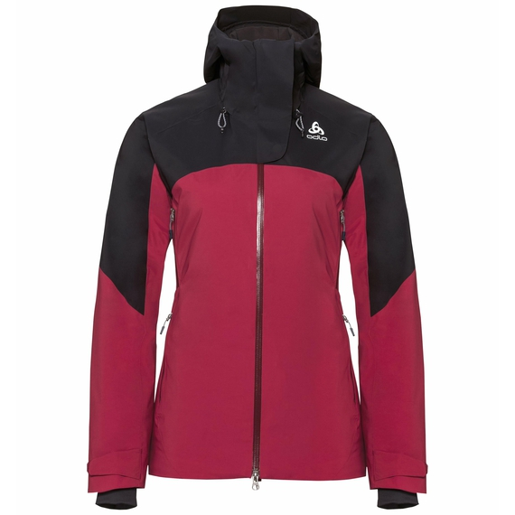 Jacket insulated SLY X, rumba red - black, large