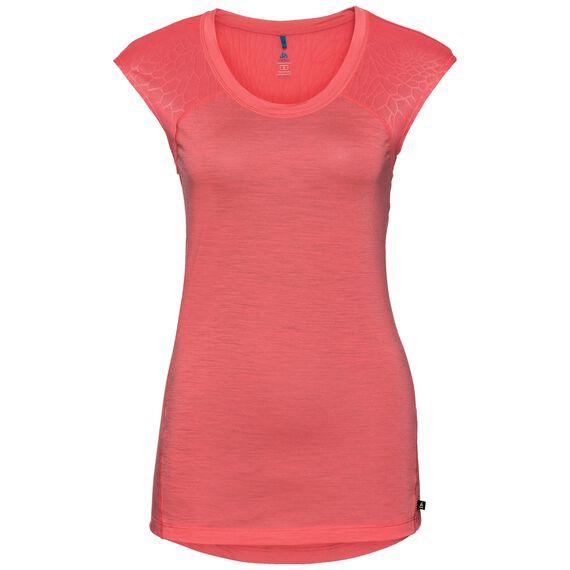 SUW TOP Shirt met ronde hals s/s NATURAL + CERAMIWOOL LIGHT, dubarry, large