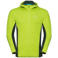 Hoody midlayer full zip SAIKAI, acid lime - climbing ivy, large