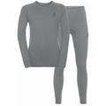 NATURAL 100% MERINO WARM Funktionsunterwäsche Set KIDS, grey melange - grey melange, large