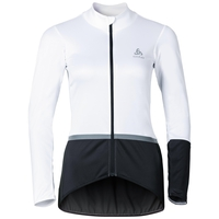 MISTRAL Logic Jacke, white - odlo graphite grey, large