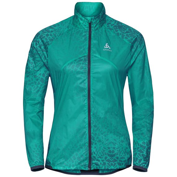 Jacket OMNIUS Light, pool green - AOP SS18, large
