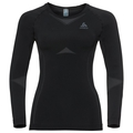 Women's PERFORMANCE EVOLUTION Base Layer Long-Sleeve Top, black - odlo graphite grey, large