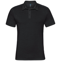 Polo s/s SAIKAI CERAMIWOOL, black, large
