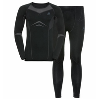 Completo Base Layer PERFORMANCE EVOLUTION da uomo, black - odlo graphite grey, large