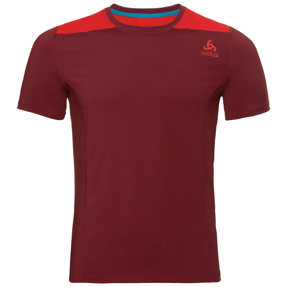 BL Top Crew neck s/s CERAMICOOL, syrah - fiery red, large
