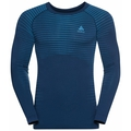 Men's PERFORMANCE LIGHT Long-Sleeve Base Layer Top, estate blue - blue aster, large